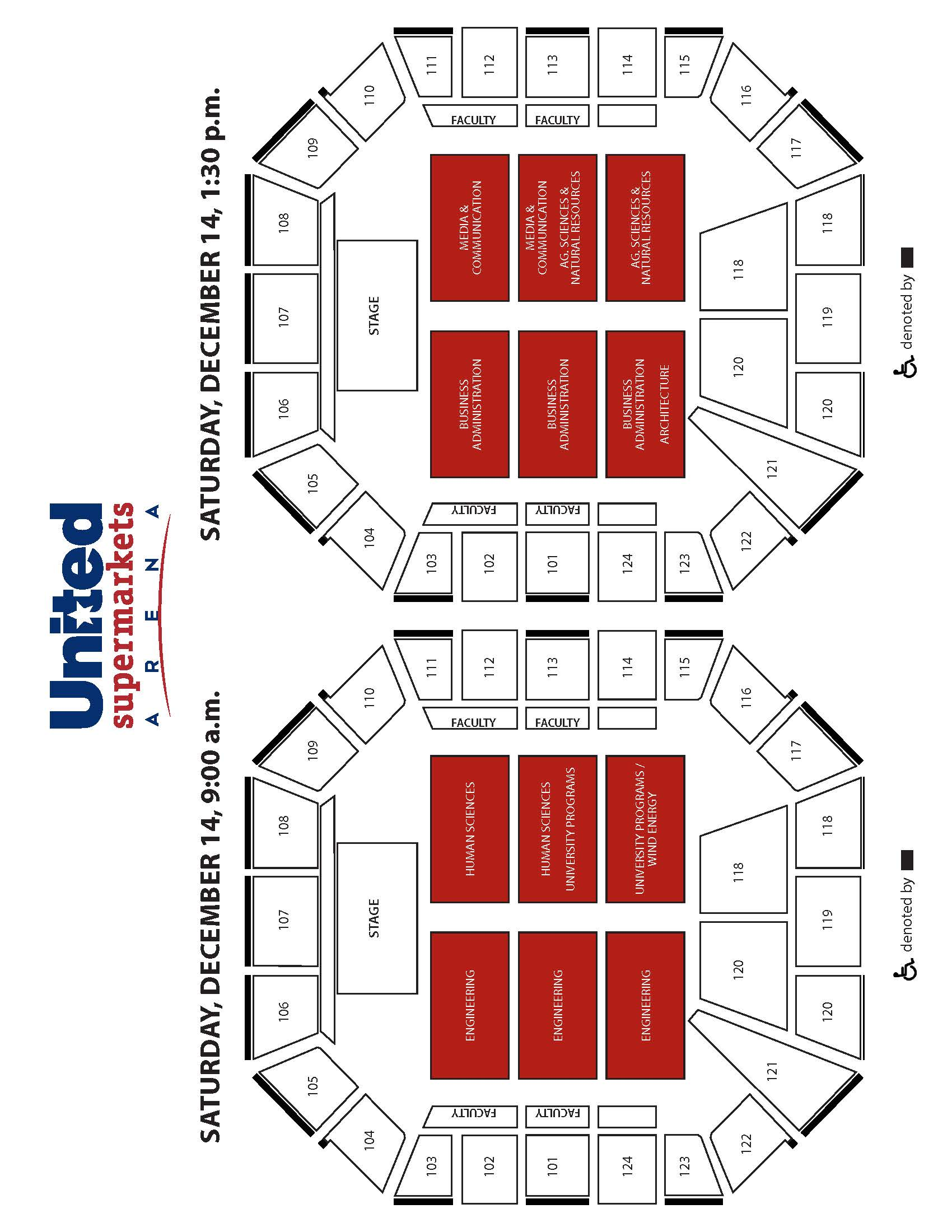 Arena Map and Guest Seating