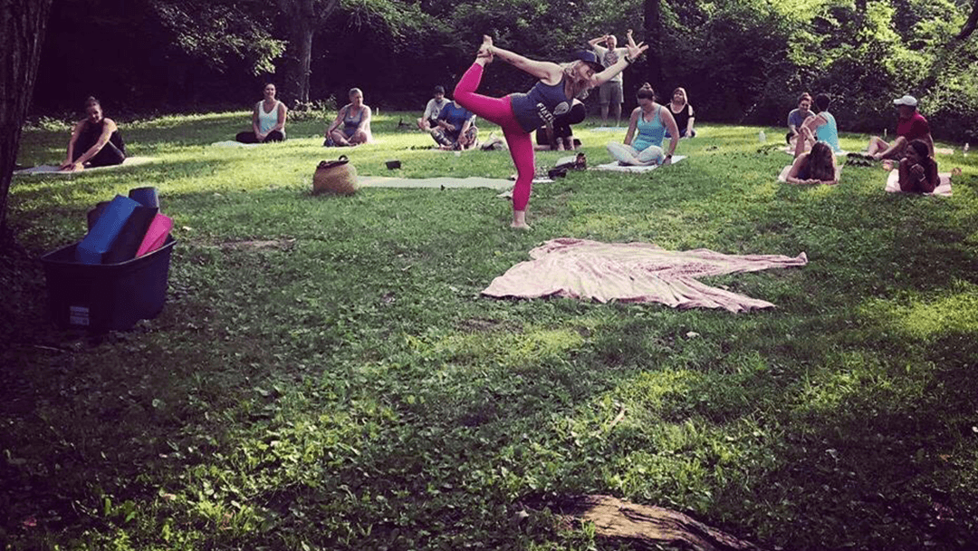 Yoga in the park.